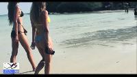 Красивые девушки. Пляж. Знакомство. Подводный охотник. Рыба.