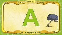 Испанский алфавит - Letra A - el Avestruz