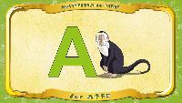 Мультипедия животных Немецкий алфавит Немецкий алфавит - Buchstabe A - der Affe