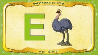 Мультипедия животных Немецкий алфавит Немецкий алфавит - Buchstabe E - der Emu