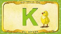 Мультипедия животных Немецкий алфавит Немецкий алфавит - Buchstabe K - das Küken