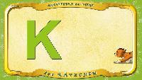 Мультипедия животных Немецкий алфавит Немецкий алфавит - Buchstabe K - das Kätzchen