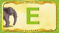 Мультипедия животных Немецкий алфавит Немецкий алфавит - Buchstabe K - der Elefant