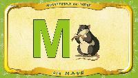 Мультипедия животных Немецкий алфавит Немецкий алфавит - Multipedia der Tiere. Buchstabe M - die Maus