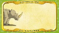 Мультипедия животных Немецкий алфавит Немецкий алфавит - Multipedia der Tiere. Buchstabe N - das Nashorn