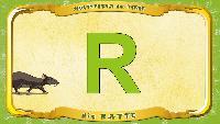 Мультипедия животных Немецкий алфавит Немецкий алфавит - Multipedia der Tiere. Buchstabe R - die Ratte