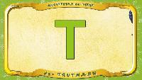 Мультипедия животных Немецкий алфавит Немецкий алфавит - Multipedia der Tiere. Buchstabe T - der Truthahn