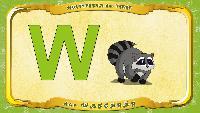Мультипедия животных Немецкий алфавит Немецкий алфавит - Multipedia der Tiere. Buchstabe W - der Waschb_r
