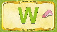 Мультипедия животных Немецкий алфавит Немецкий алфавит - Multipedia der Tiere. Buchstabe W - der Wurm