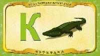 Русский алфавит - Серия 44 - Буква К - Крокодил