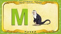 Мультипедия животных Українська абетка Українська абетка - Літера М - Мавпа