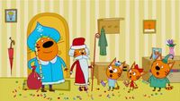 Три кота 1 сезон 24 серия. Дед Мороз и Снегурочка